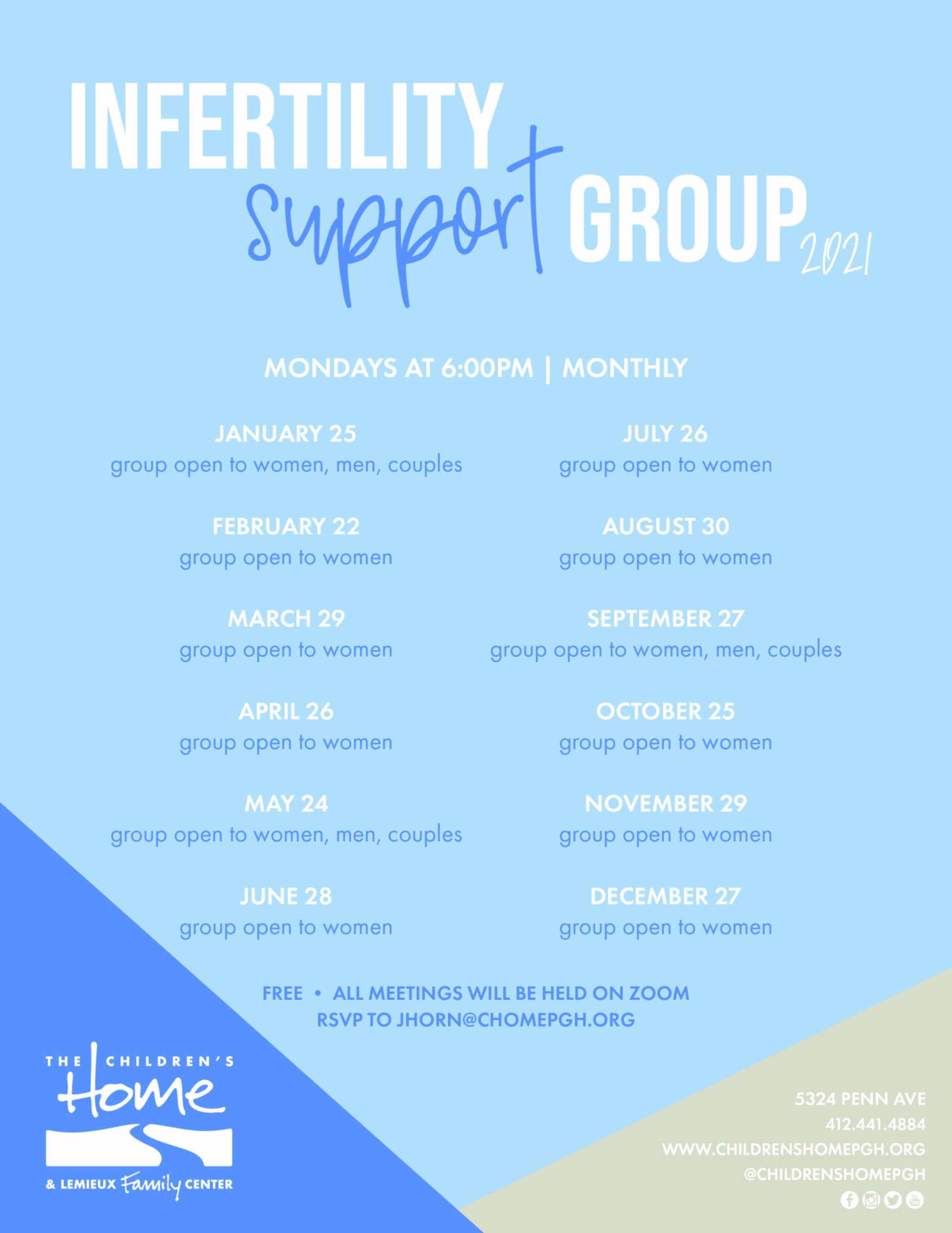 Infertility Support Group 2021-Flyer